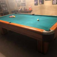 Antique Brunswick Pool Table