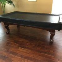 Wood 8 Foot Pool Table