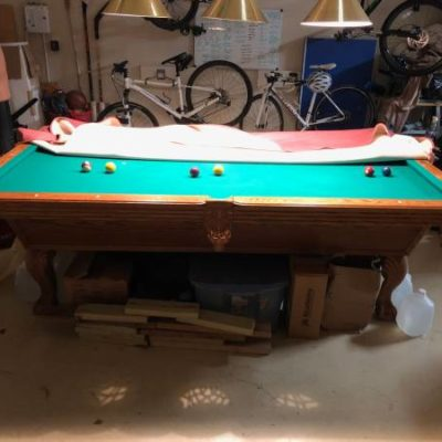 8 ft Olhausen Pool Table with Acc Fast Cushions