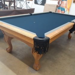 8 ft 3 pc. Slate Cowboys Pool Table For Sale - New Cloth, Installation, and Accessories Included!