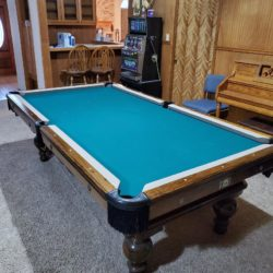 8 Ft. 3 Piece Slate Pool Table